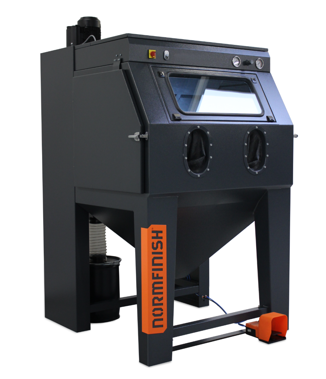 Normfinish-DI-injector-blast-cabinet-overview