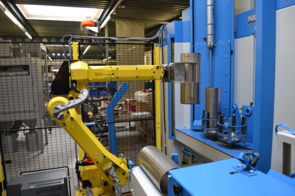 Straalinstallatie met robot